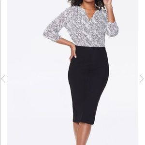 NYDJ Pencil Skirt - black size M